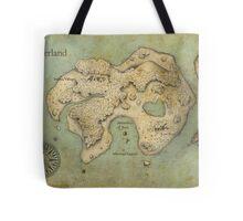Peter Pan Neverland Map Tote Bag