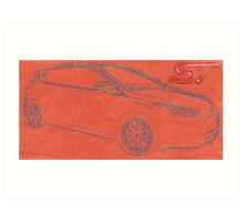 Focus ST Mk3 Drawing with ST Logo Art Print