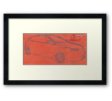Focus ST Mk3 Drawing with ST Logo Framed Print
