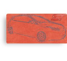 Focus ST Mk3 Drawing with ST Logo Canvas Print