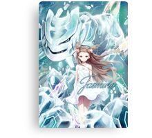 Pokemon - Jasmine - Steelix Canvas Print