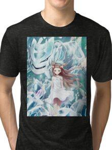 Pokemon - Jasmine - Steelix (no text) Tri-blend T-Shirt
