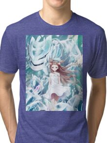 Pokemon - Jasmine - Steelix (no text) Tri-blend T-Shirt