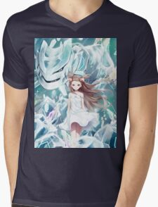 Pokemon - Jasmine - Steelix (no text) Mens V-Neck T-Shirt