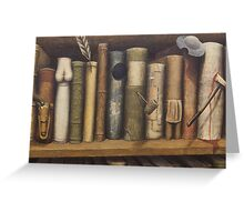 Bibliomania Greeting Card