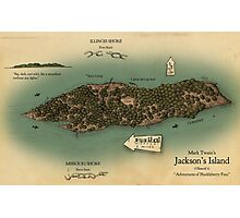 Jackson's Island from Huckleberry Finn Photographic Print