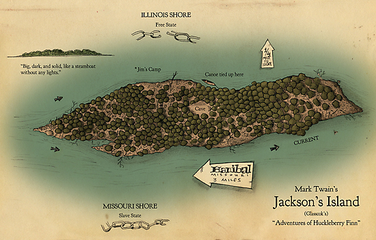 Jackson's Island from Huckleberry Finn by Craig Wetzel