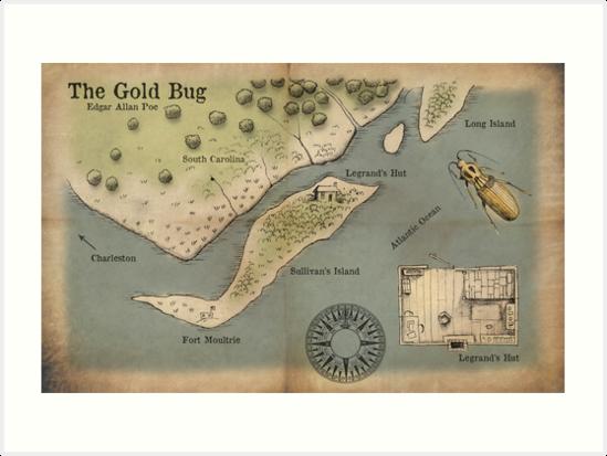 Poe - The Gold Bug - Map by Craig Wetzel