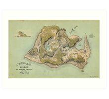 Crichton's Island Map Art Print
