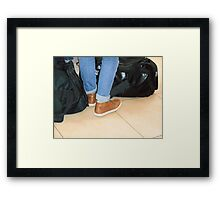 Waiting to Board Framed Print