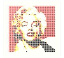 Marilyn Monroe pixel pop art Art Print