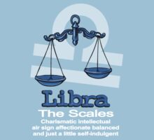 Libra The Scales centred Kids Tee
