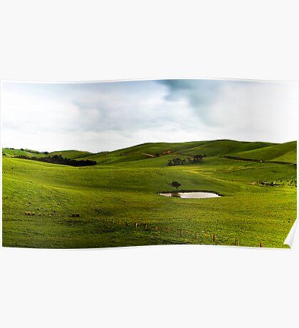 Green Green Hills Poster