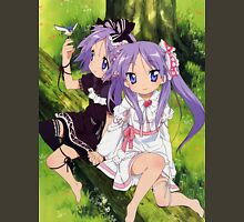 "Lucky ☆ Star - Tsukasa Hiiragi & Kagami ""Kagamin"" Hiiragi - Nature Unisex T-Shirt"