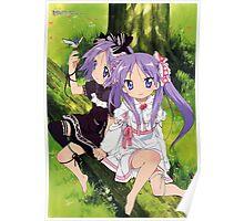 "Lucky ☆ Star - Tsukasa Hiiragi & Kagami ""Kagamin"" Hiiragi - Nature Poster"