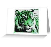 Green Tiger Greeting Card