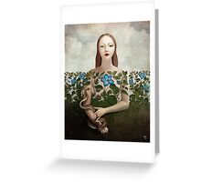 Eva and the Garden  Greeting Card