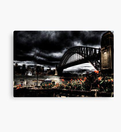 Storm Clouds over Sydney Harbour Canvas Print