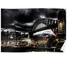 Storm Clouds over Sydney Harbour Poster