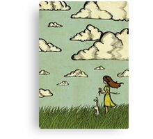 Girl Under the Clouds  Canvas Print