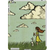 Girl Under the Clouds  iPad Case/Skin