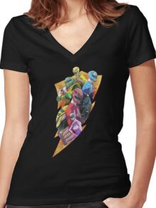 Angel Grove Class Reunion Women's Fitted V-Neck T-Shirt