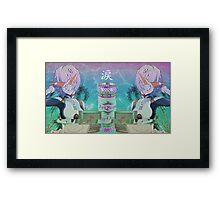 Neon Genesis Evangelion - Rei Ayanami - VAPORWAVE / AESTHETIC Framed Print