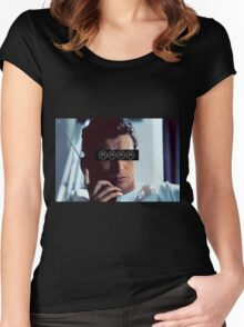 Patrick Bateman - Christian Bale - SADBOYS Women's Fitted Scoop T-Shirt