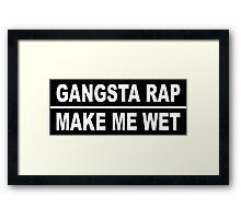 gangsta rap  Framed Print