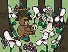 Teddy Bear And Bunny - The Blood Flowers by Brett Gilbert