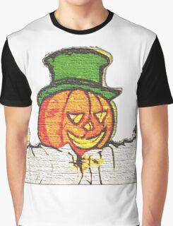 Top Hat Pumpkin Graphic T-Shirt