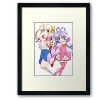 Fate/kaleid liner Prisma☆Illya - Non Non Biyori - Illyasviel von Einzbern and Renge Miyauchi - Crossover (cut) Framed Print