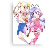 Fate/kaleid liner Prisma☆Illya - Non Non Biyori - Illyasviel von Einzbern and Renge Miyauchi - Crossover (cut) Canvas Print