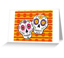 Sunshine Sugar Skulls Greeting Card