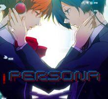 Persona - Makoto Yuki and Yukari Takeba - Guns (With Title) Sticker