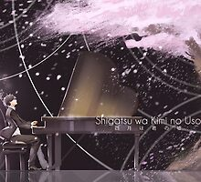 Shigatsu wa Kimi no Uso (四月は君の嘘) - Your Lie in April  - Kousei Arima and Kaori Miyazono by frc qt