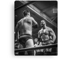Man Vs Muscle Canvas Print