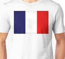 France Flag Dirty Unisex T-Shirt