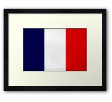 France Flag Dirty Framed Print