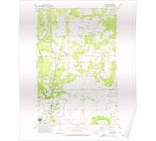 USGS Topo Map Washington State WA Mead 242268 1973 24000 Poster