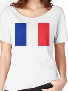 France Flag Mosaic Women's Relaxed Fit T-Shirt