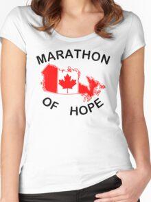 Marathon of Hope, 1980 v4 Women's Fitted Scoop T-Shirt