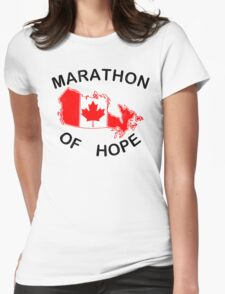 Marathon of Hope, 1980 v4 Womens Fitted T-Shirt