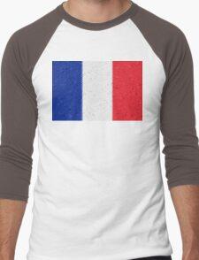 France Flag Mosaic Men's Baseball ¾ T-Shirt