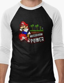 Mushroom Power Men's Baseball ¾ T-Shirt