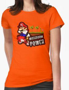 Mushroom Power Womens Fitted T-Shirt