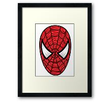 Spiderman Mask Framed Print
