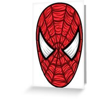 Spiderman Mask Greeting Card