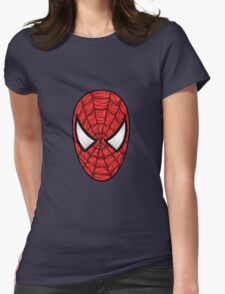Spiderman Mask Womens Fitted T-Shirt