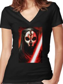 Darth Nihilus - KOTOR 2 - STAR WARS - Knights of the Old Republic 2 Women's Fitted V-Neck T-Shirt